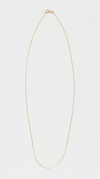 Jennie Kwon Designs 14k Pearl Arc Necklace In Yellow Gold