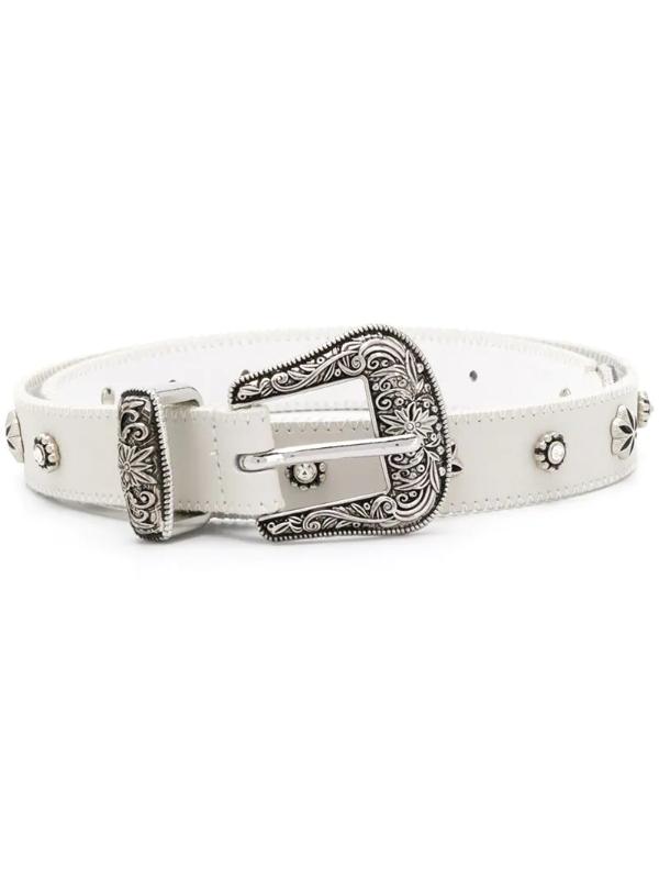 Pinko Junin Belt In White