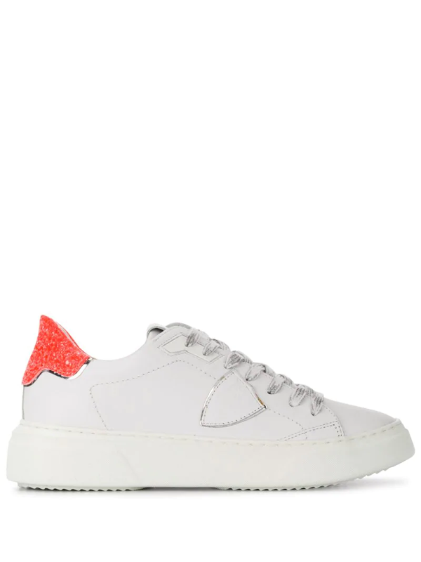 Philippe Model Two-tone Lace-up Trainers In White
