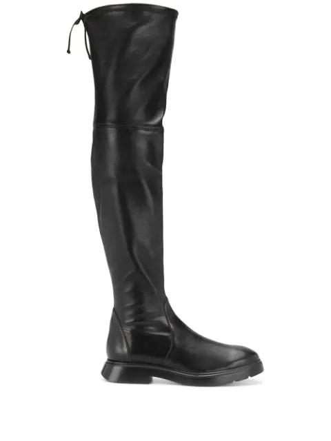 Stuart Weitzman Block Heel Thigh-high Boots In Black