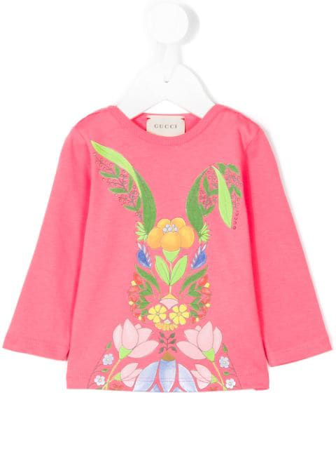 Gucci Babies' Printed T-shirt In Pink