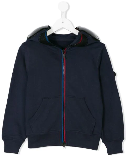 Ai Riders On The Storm Kids' Zipped Hoodie In Blue