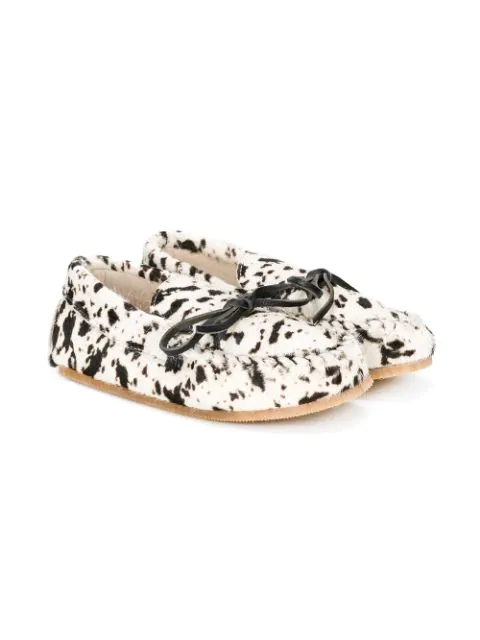 Pèpè Kids' Bow Detail Loafers In White