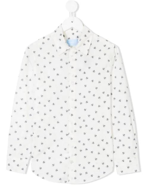 Lanvin Enfant Kids' Spider Print Shirt In White