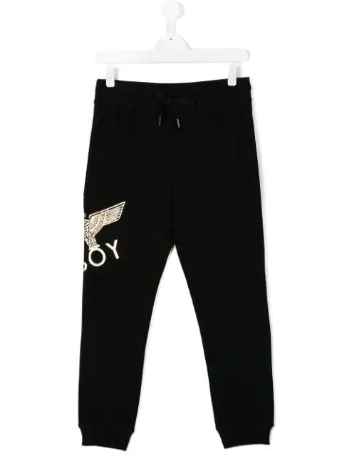 Boy London Kids' Printed Logo Sweatpants In Black