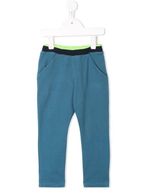 Familiar Kids' Colour Block Trousers In Blue