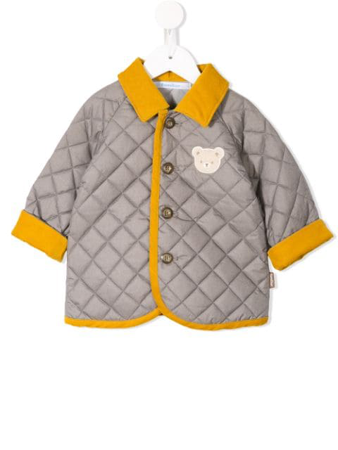 Familiar Babies' Quilted Fami Jacket In Grey