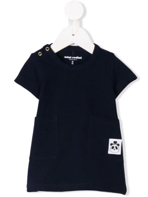 Mini Rodini Babies' Two-pocket T-shirt Dress In Blue