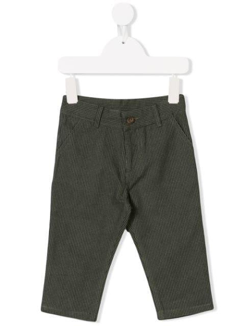 Knot Babies' Island Check Trousers In Green