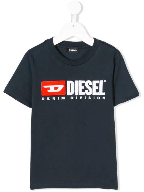 Diesel Kids' Tjustdivision T-shirt In Blue