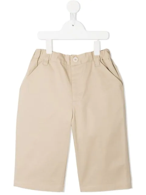 Familiar Kids' Classic Chino Shorts In Brown