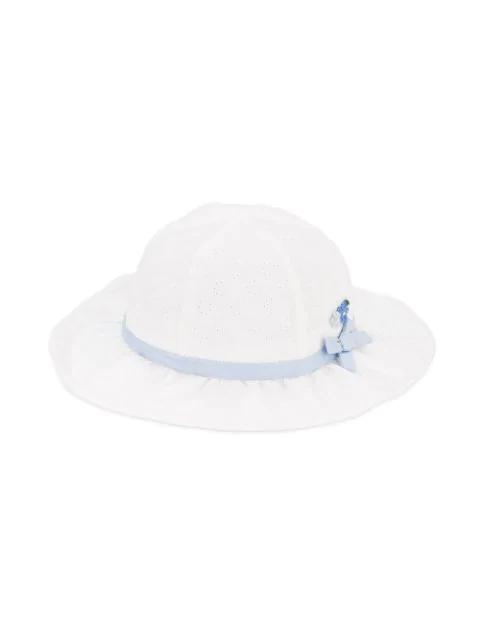 Familiar Kids' Flower Detail Sun Hat In White