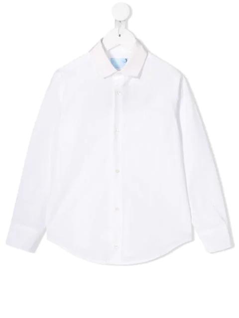 Lanvin Enfant Kids' Slim Fit Shirt In White
