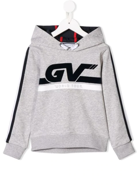 Givenchy Kids' World Tour Hoodie In Grey