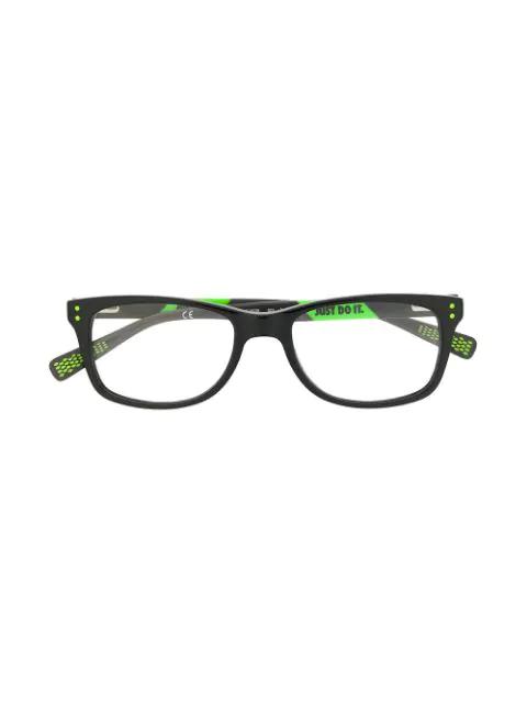 Nike Kids' Rectangle Frame Glasses In Black
