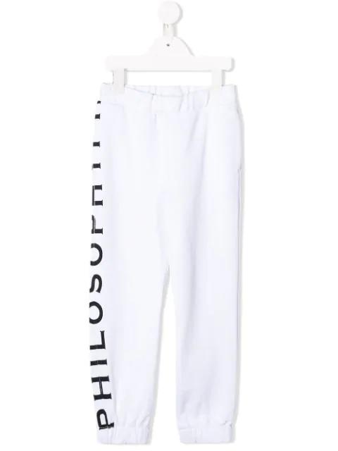 Philosophy Di Lorenzo Serafini Kids' Logo Jogging Trouser In White