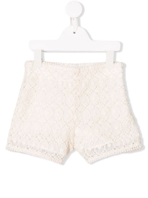 Philosophy Di Lorenzo Serafini Kids' Crochet Shorts In White