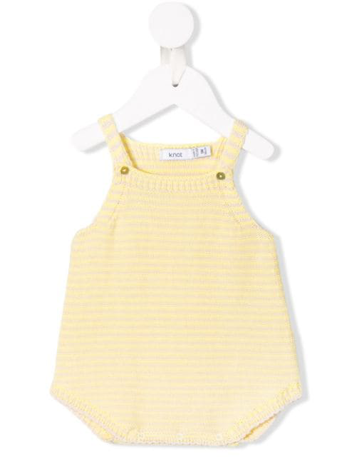 Knot Babies' Summer Knitted Romper In Yellow