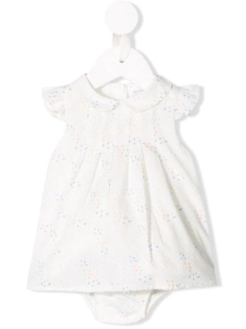 Knot Babies' Little Flowers Dress In White