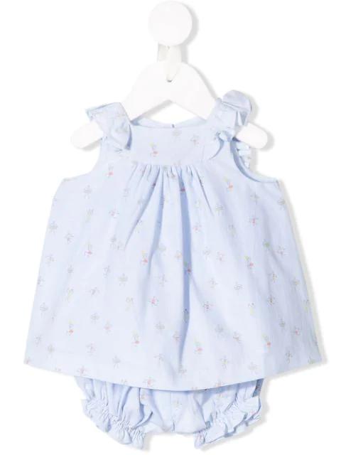 Knot Babies' Wegue Wegue Dress In Blue