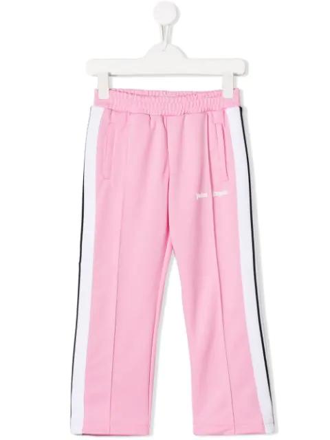 Palm Angels Kids' Side Stripe Track Pants In Pink