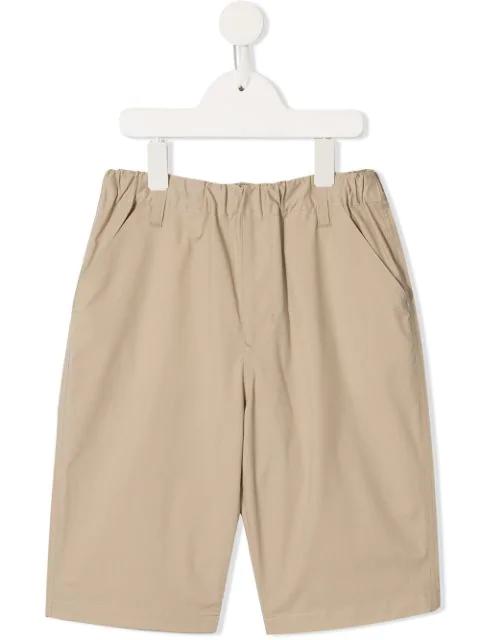 Familiar Kids' Elasticated Waist Shorts In Neutrals