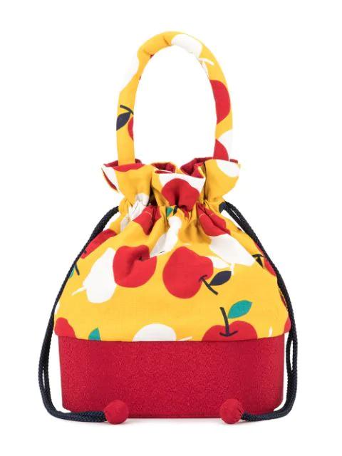 Familiar Kids' Printed Bucket Bag In Multicolour