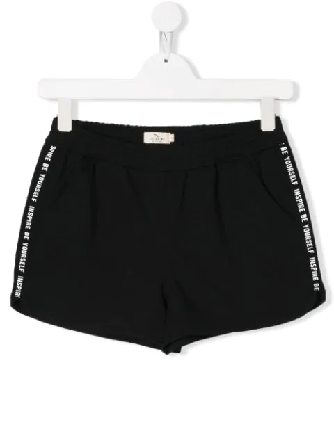 Andorine Teen Inspire Be Yourself Print Shorts In Black