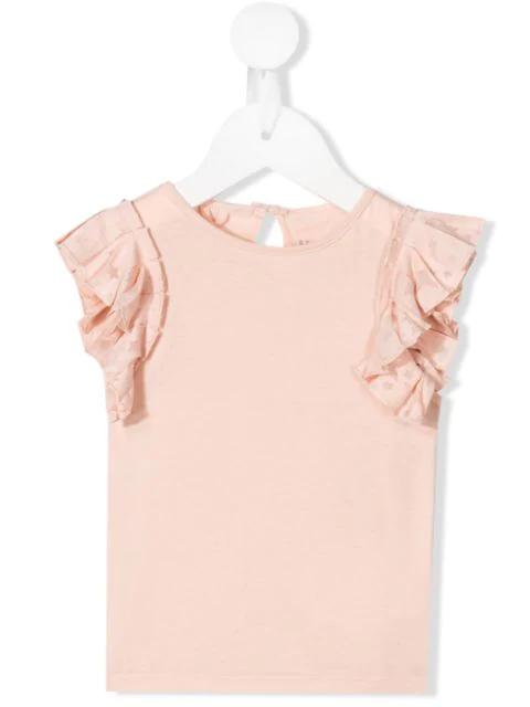 Stella Mccartney Babies' Ruffled Tank Top In Pink