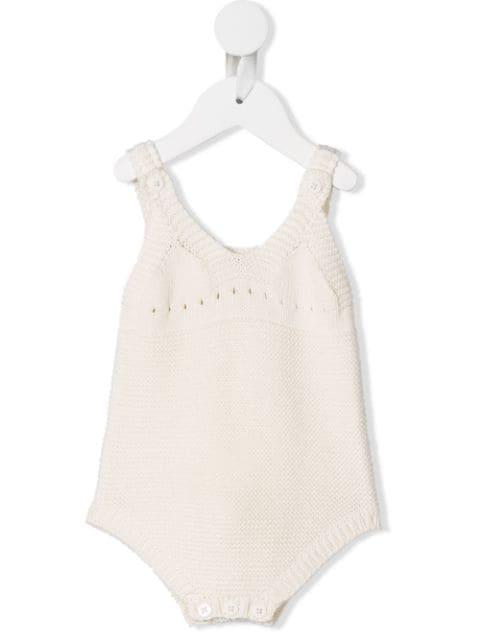 Stella Mccartney Babies' Bunny Knit Shortie In White