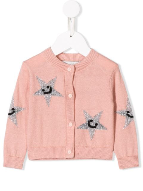 Stella Mccartney Kids' Star Knitted Jumper In Pink