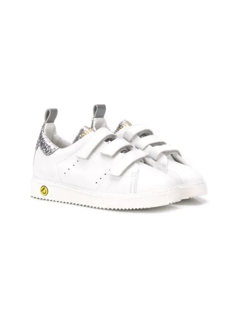 Golden Goose Kids' Touch Strap Trainers In White