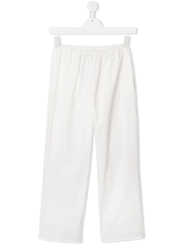 Touriste Kids' Classic Straight-leg Trousers In White