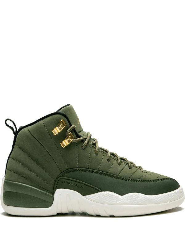 Kids' Air Jordan 12 Retro Sneakers In Green