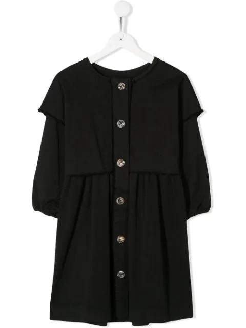 Andorine Kids' Layered Shirt Dress In Black
