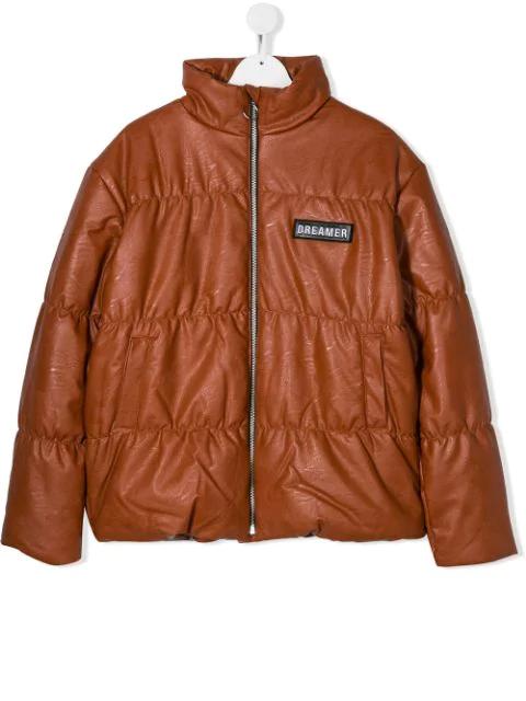 Andorine Teen Puffer Jacket In Orange