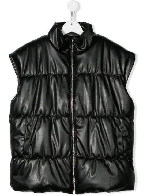 Andorine Teen Puffer Vest In Black