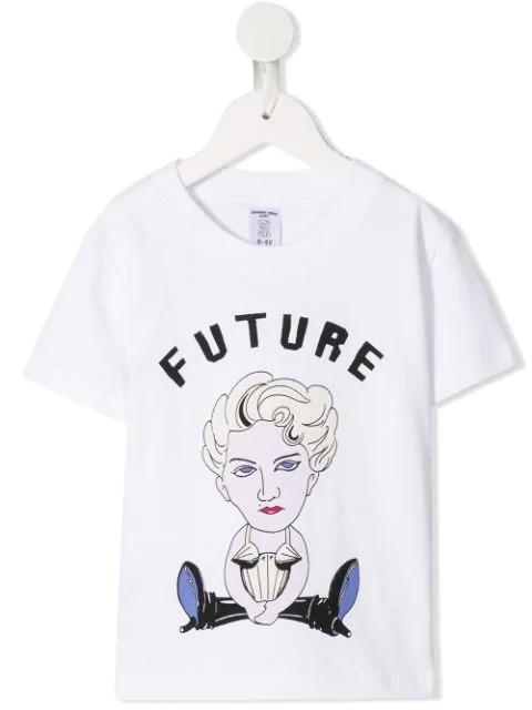 Ground Zero Kids' Graphic Print T-shirt In White