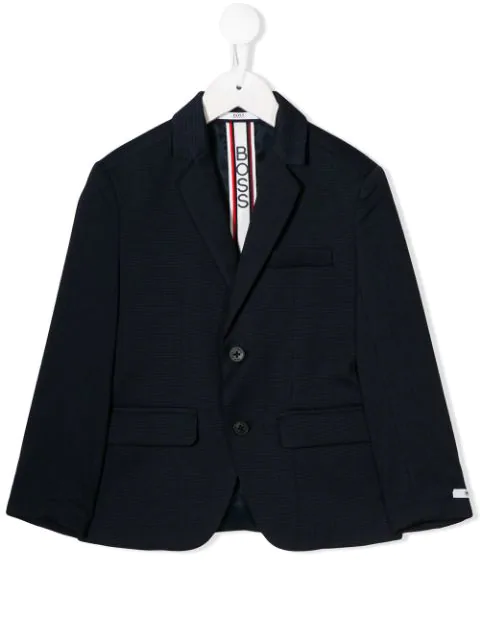 Hugo Boss Kids' Single-breasted Blazer In Blue