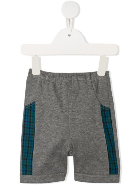 Familiar Babies' Checked Panel Shorts In Grey