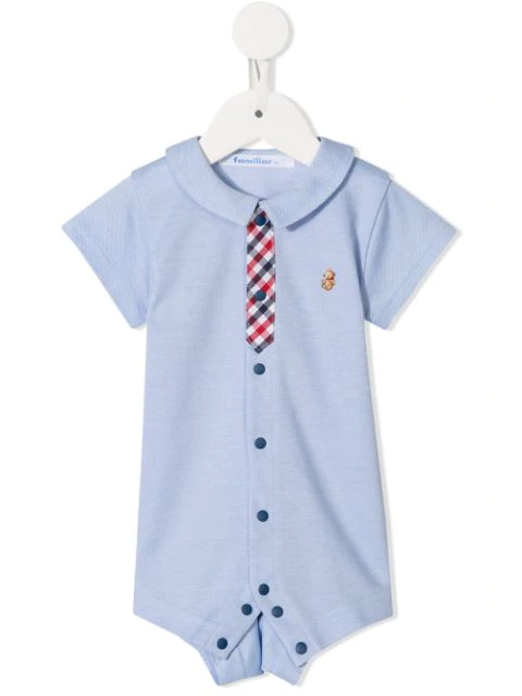 Familiar Babies' Check Detailed Shorties In Blue
