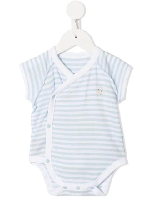 Familiar Babies' Striped Logo Body In Blue