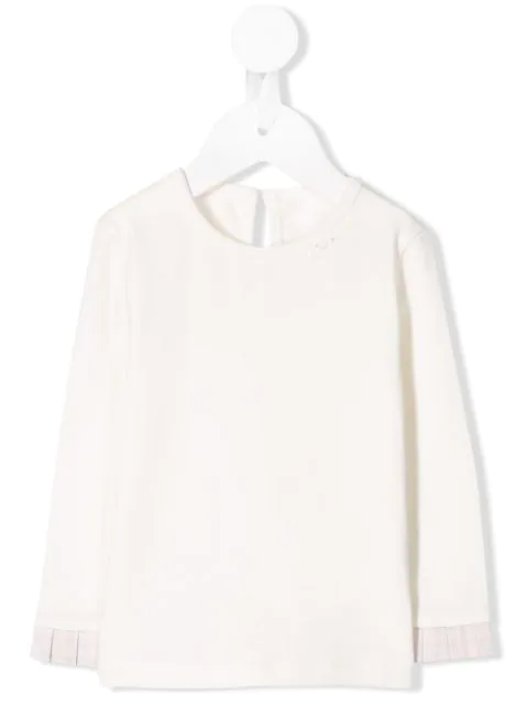 Lapin House Babies' Contrasting Cuff Jersey T-shirt In White