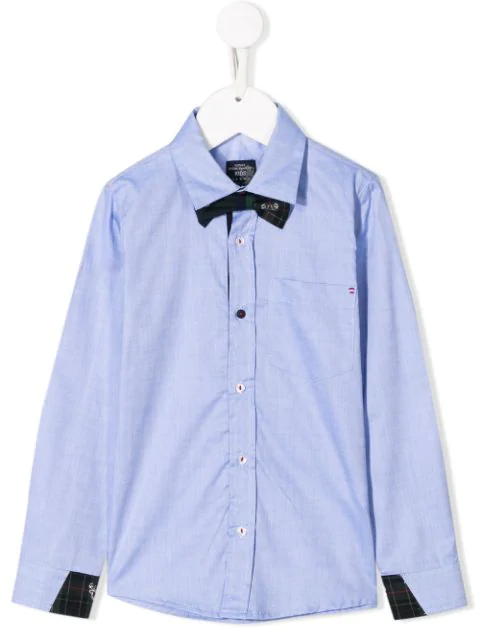 Lapin House Kids' Classic Shirt With Bow Tie In Blue