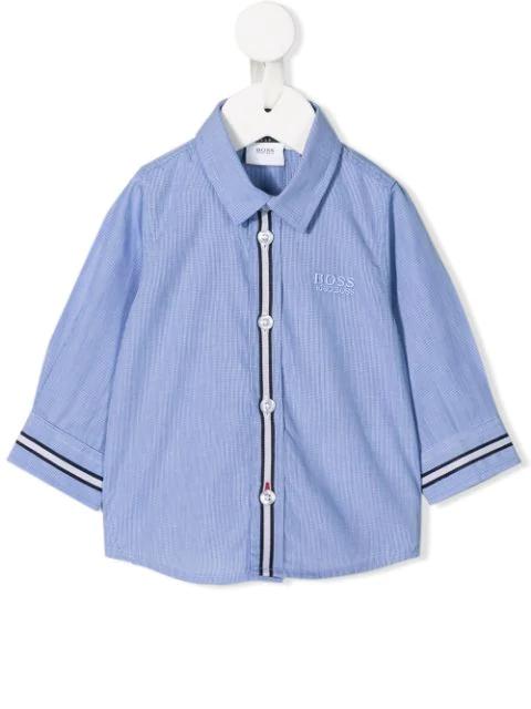 Hugo Boss Babies' Checked Shirt In Blue