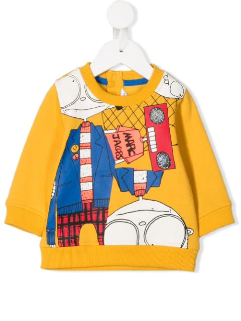 Little Marc Jacobs Babies' Mr Marc Print Sweatshirt In Yellow