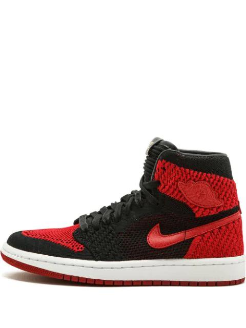 Jordan Teen Air  1 Ret Hi Flyknit Bg Sneakers In Black