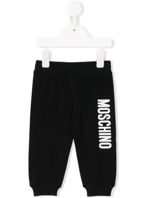 Moschino Babies' Logo Tracksuit Bottoms In Black