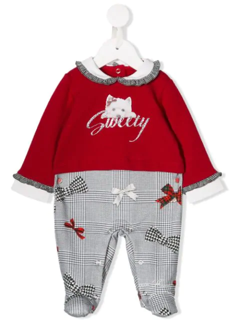 Lapin House Babies' Sweety Pajama Set In Red