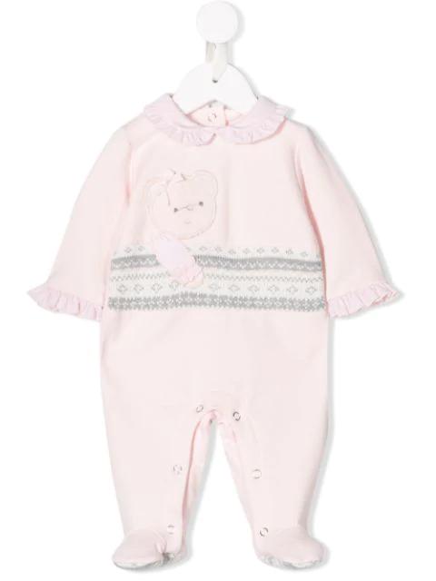 Lapin House Babies' Teddy Bear Pajamas In Pink